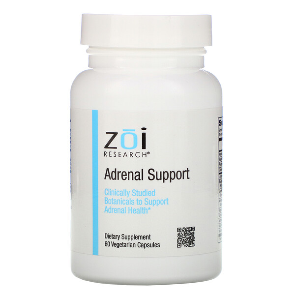 ZOI Research, Adrenal Support, 60 Vegetarian Capsules
