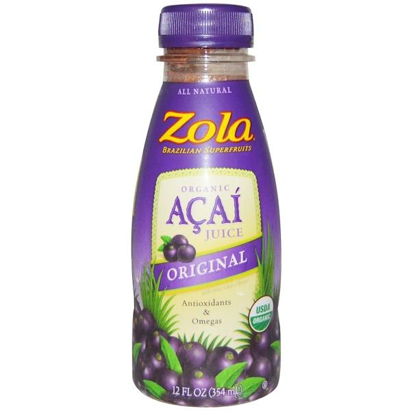 Zola, Organic, Acai Juice, Original, 12 fl oz (354 ml) (Discontinued Item)