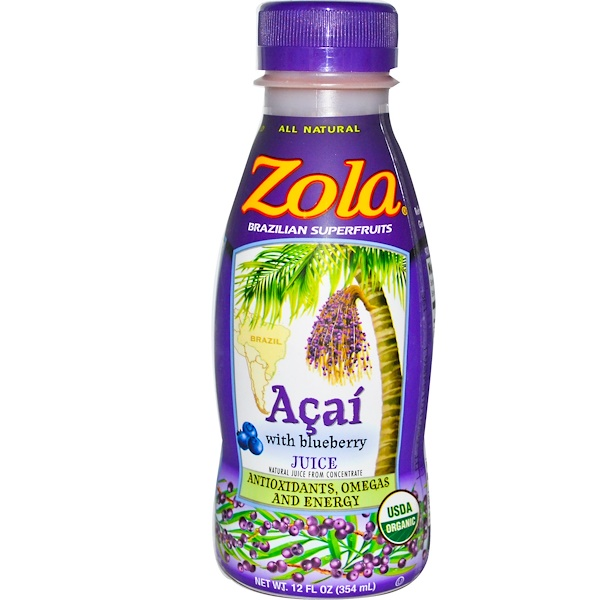 Zola, Acai with Blueberry Juice, 12 fl oz (354 ml) (Discontinued Item)