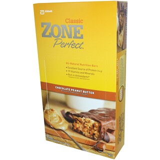 ZonePerfect, Classic, All-Natural Nutrition Bars, Chocolate Peanut Butter, 12 Bars, 1.76 oz (50 g) Each