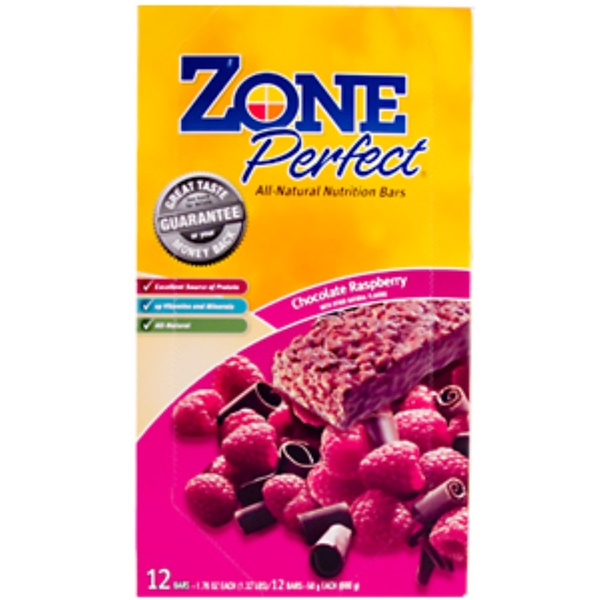 ZonePerfect, All-Natural Nutrition Bars, Chocolate Raspberry, 12 Bars, (1.76 oz, 50 g) Each (Discontinued Item)