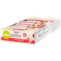 Питательные батончики, со вкусом клубничного йогурта, 12 батончиков по 1.76 унций (50 г) - фото
