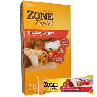 ZonePerfect, 栄養バー、ストロベリーヨーグルト、12本、各1.76オンス (50 g)