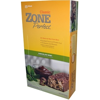 ZonePerfect, Classic, All-Natural Nutrition Bars, Chocolate Mint, 12 Bars, 1.76 oz (50 g) Each)