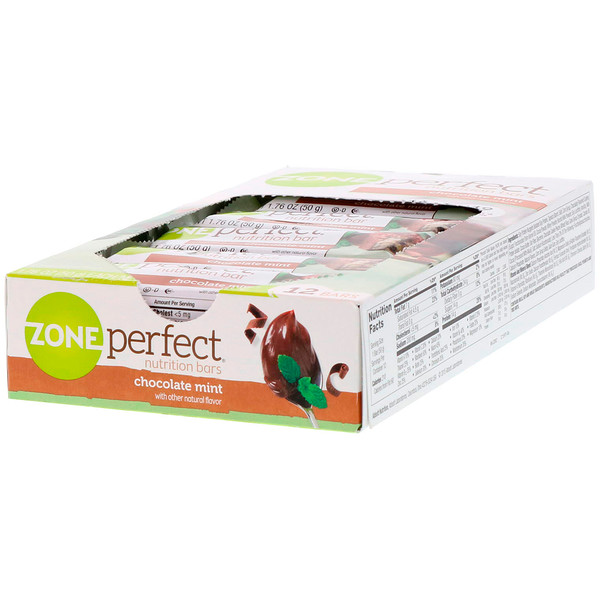 ZonePerfect, Nutrition Bars, Chocolate Mint, 12 Bars, 1.76 oz (50 g) Each)