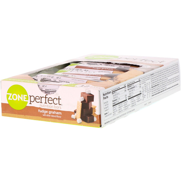 ZonePerfect, Barras nutritivas, caramelo y galletas integrales, 12 barras, 1,76 oz (50 g) cada una