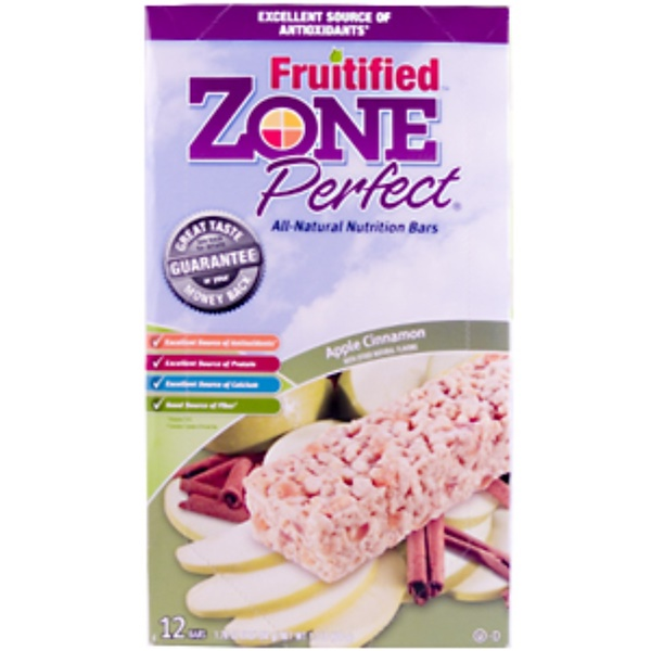 ZonePerfect, Fruitified, All-Natural Nutrition Bars, Apple Cinnamon, 12 Bars, 1.76 oz (50 g) Each (Discontinued Item)