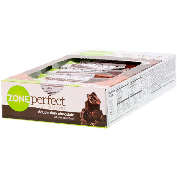 ZonePerfect, Barras nutritivas, doble chocolate negro, 12 barras, 1.58 oz (45 g) cada una
