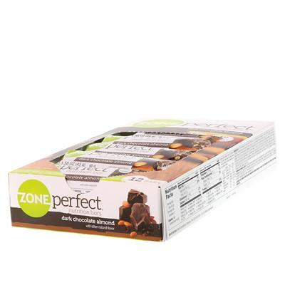 Питательные батончики, темный шоколад с миндалем, 12 батончиков, 1,58 унции (45 г) каждый maestro de oliva оливки с миндалем 300 г