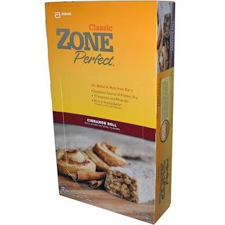 ZonePerfect, クラシック,  全天然栄養バー, シナモンロール, 12 本, 各1.76 オンス (50 g)