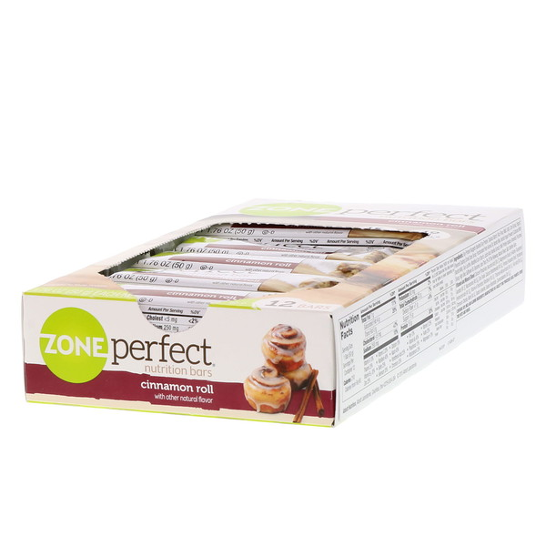 ZonePerfect, Nutrition Bars, Cinnamon Roll, 12 Bars, 1.76 oz (50 g) Each