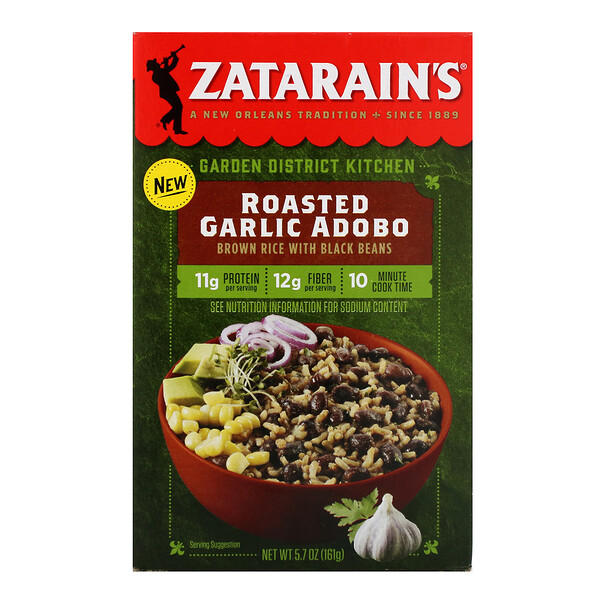 Zatarain's, Garden District Kitchen, Roasted Garlic Adobo, 5.7 oz (161 g)
