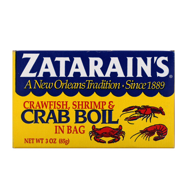 Zatarain's, Crawfish, Shrimp, & Crab Boil in Bag, 3 oz (85 g)