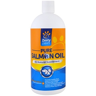 Zesty Paws, Pure Salmon Oil for Dogs and Cats, All Natural Supplement, 32 fl oz (946 ml)