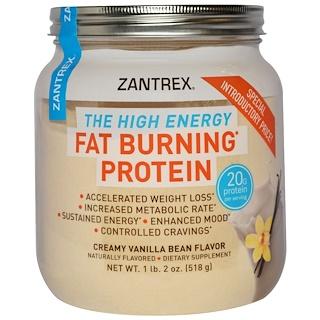 Zantrex, Fat Burning Protein, Creamy Vanilla Bean Flavor, 1 lb 2 oz (518 g)