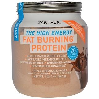 Zoller Laboratories, Fat Burning Protein Powder, Triple Chocolate Fudge, 1 lb 3 oz (542 g)
