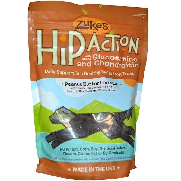 Zuke's, Hip Action, Galletas para Perros, Fórmula de Res, 1 lb (16 oz) (Discontinued Item)