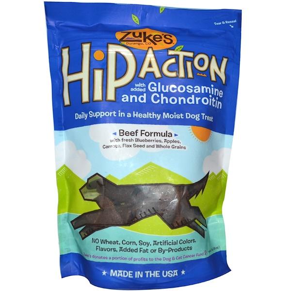 Zuke's, Hip Action, Dog Treats, Beef Formula , 1 lb (16 oz) (Discontinued Item)