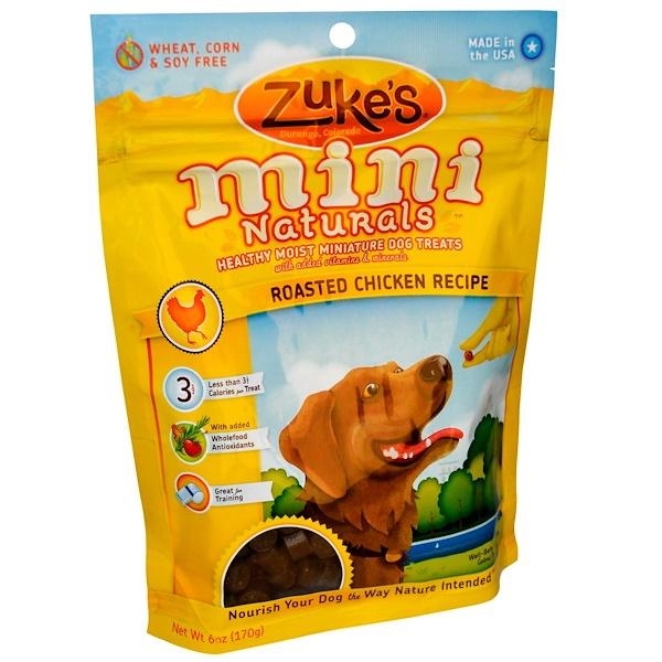 Zuke's, Mini Naturals, Gesunde Feuchte Mini Hunde Leckerli, Hühnerbraten Rezept, 6 oz (170 g) (Discontinued Item)